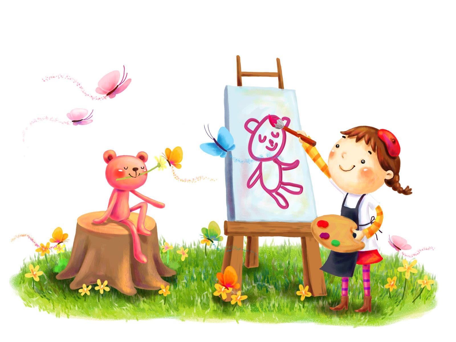 Beautiful Cartoon Children Hd Image Wallpaper